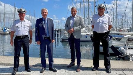 von links: Stefan Büttner, Torsten Geerdts, Jürgen Herdes, Lars Brückner