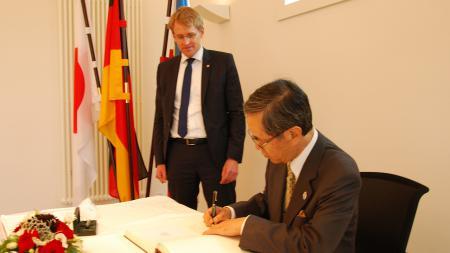 Gast aus Japan und Ministerpräsident