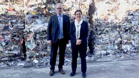 Besuch des Recycling-Papier-Herstellers Steinbeis Papier GmbH