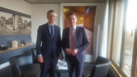 Staatssekretär Liebing begrüßt den litauischen Botschafter