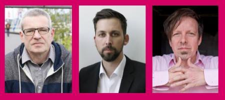 Die Autoren Christopher Ecker, Ole Petras und Arne Rautenberg