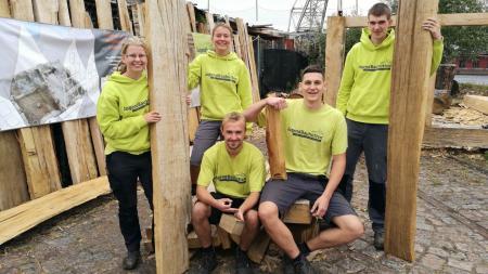 Teilnehmer des Projektes Jugendbauhütte Lübeck