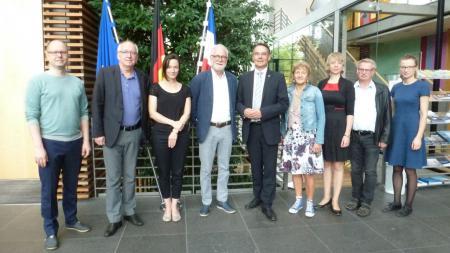 Staatssekretär Liebing mit den Mitgliedern des Minderheitenrats