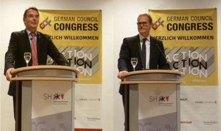 Begrüßung durch Staatssekretär Ingbert Liebing und Bürgermeister Michael Müller