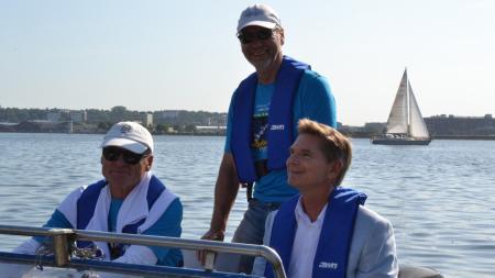 Minister Dr. Garg bei der Eröffnung der Regatta