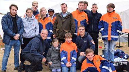 Besuch des Zeltlagers der Landesjugendfeuerwehren auf Föhr