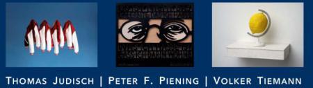 Werke der Künstler Th. Judisch, P. Piening, V. Tiemann (v.l.n.r.)