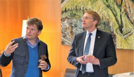 Christopher Lehmpfuhl und Daniel Günther