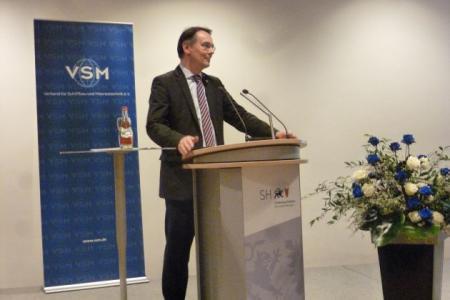 Staatssekretär I. Liebing begrüßt die Gäste des VSM