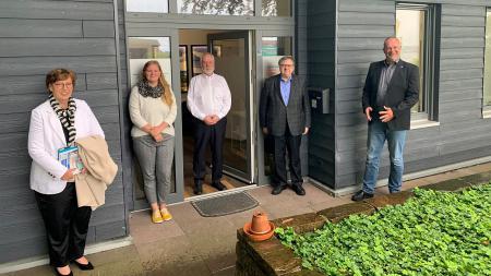 V.l.: M, Marlene Andresen (MILIG), Hr. Redemann (Mitglied des Landesvorstandes), Hr.Dr. Klug (Landesvorsitzender, III M a.D.), Hr. Niemans (Geschäftsführer Landesverband SH).