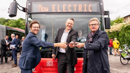 Fahrt mit dem Elektrobus