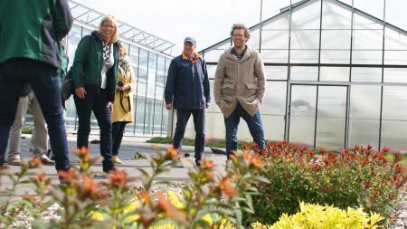 Einblick in das Gartenbauzentrum Ellerhoop